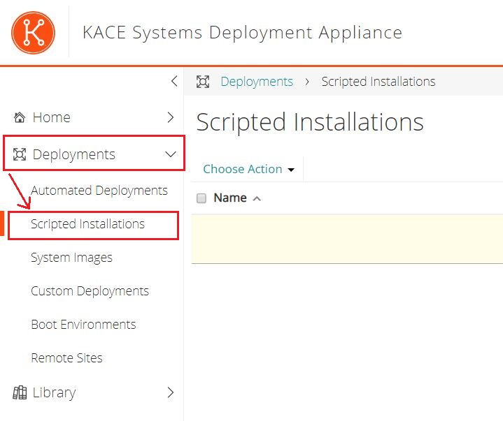 Kace SDA : Création de script d'installation pour Windows 10 UEFI