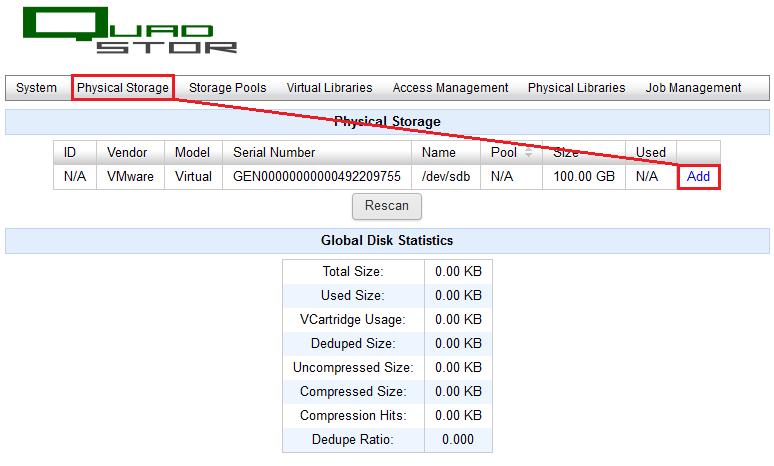 Veeam: Créer un VTL avec Quadstore et configurer Veeam pour la sauvegarde sur bande virtuelle