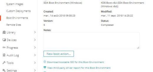 Kace SDA : Création d'une clé USB UEFI média bootable