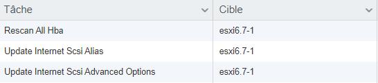 ESXi 6.7 : Création d'un datastore en iSCSI