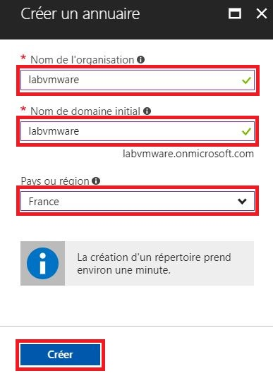 Azure : Création d'un domaine et configuration d'AD Azure Connect