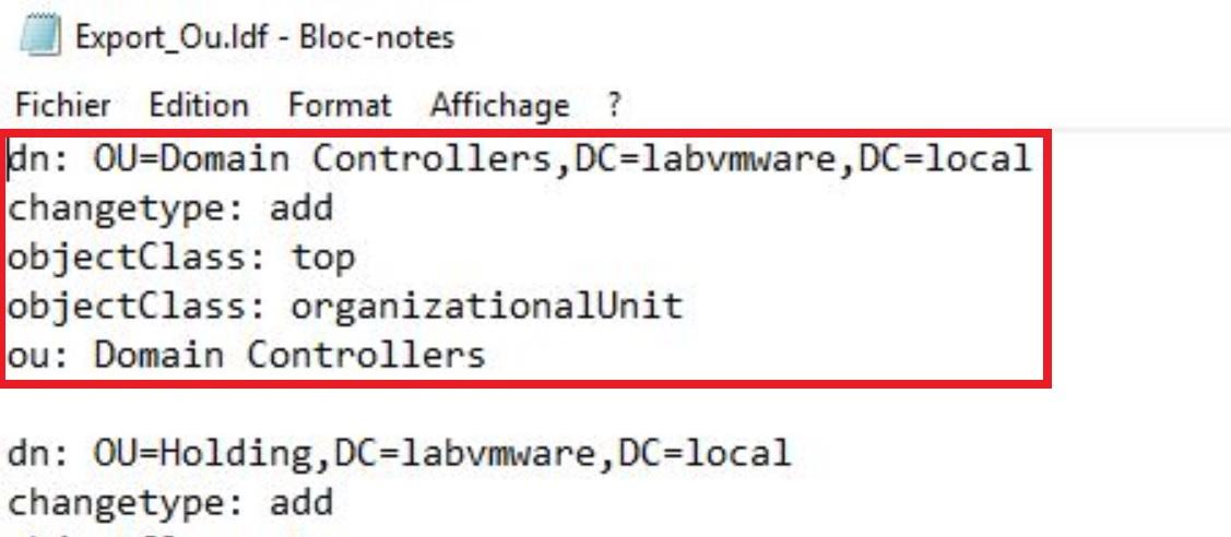 Active Directory : Migrer la structure des OU sur un nouveau domaine avec LDIFDE