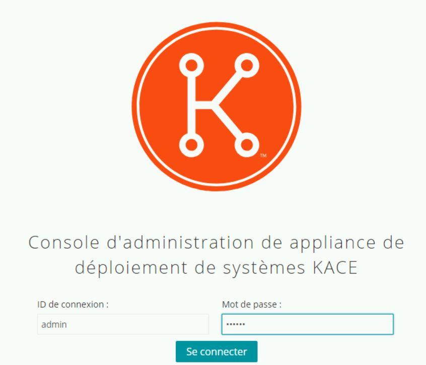 Kace : Déploiement du SDA Systems Deployment Appliance