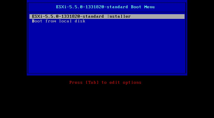 VMware : Installer un hyperviseur ESXi 5.5