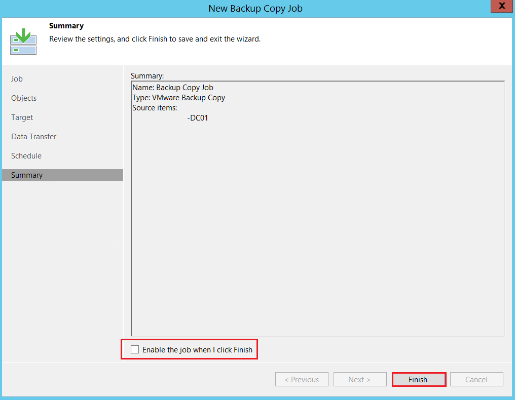 Veeam : Configurer un backup Copy Job afin d'externaliser ses sauvegardes