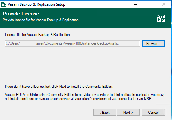 Installation Veeam Backup & Recovery v10
