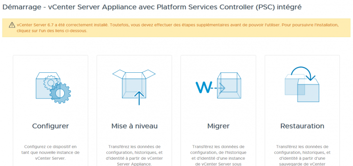 VMware: Déployer un vCSA 6.7