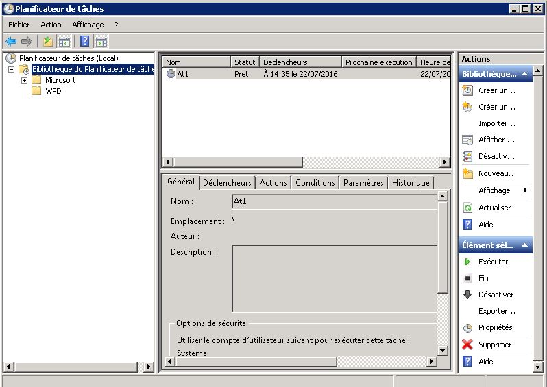Powershell : exécuter un script en tâche planifiée