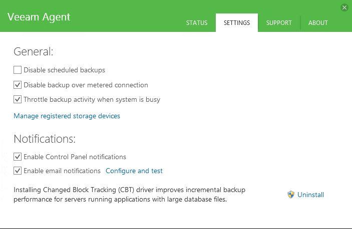 Veeam : Sauvegarde avec Veeam Agent pour Windows