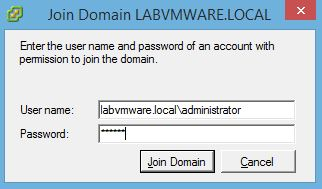 VMware : Activer l'authentification AD sur un ESXi
