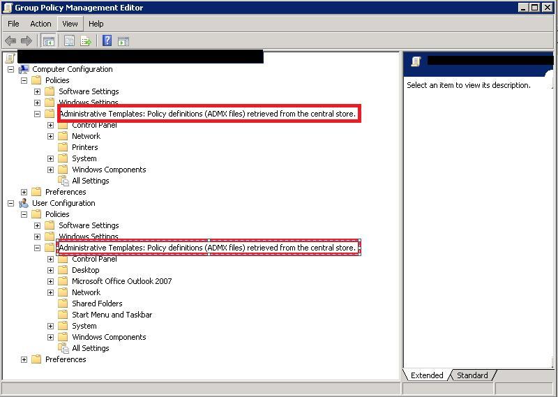 Windows Server Creer Un Magasin Central Pour Les Modeles De Gpo