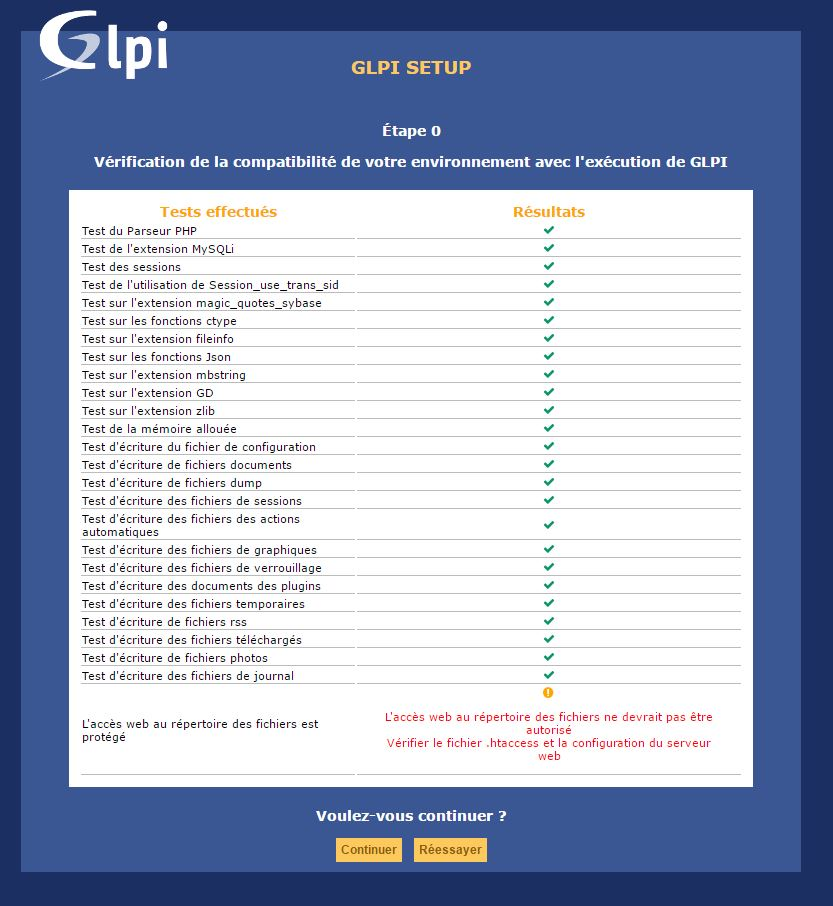GLPI : Installation et configuration