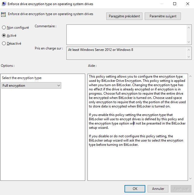 Chiffrer un poste de travail avec BitLocker