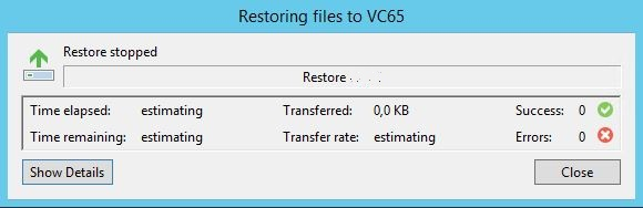 Veeam : restauration d'un fichier Windows avec Veeam