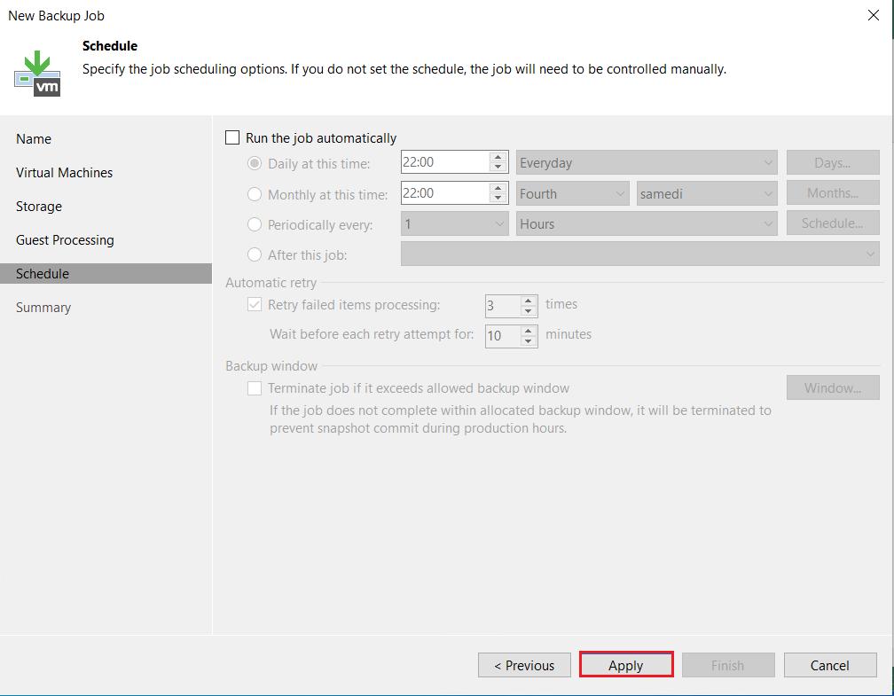 Veeam: Sauvegarder et restaurer des objets Active Directory
