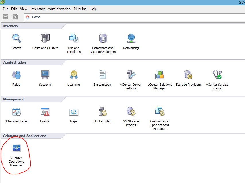 VMware : Install vCenter Operation Manager vCops