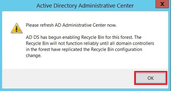 Windows Server : Activer et utiliser la corbeille Active Directory