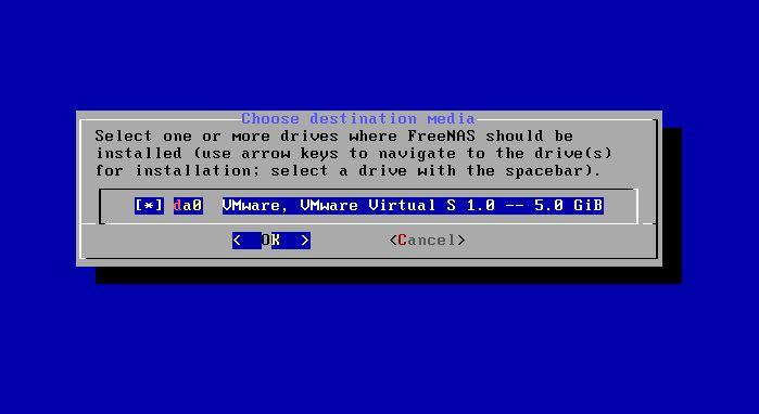 FreeNAS : Installation et configuration