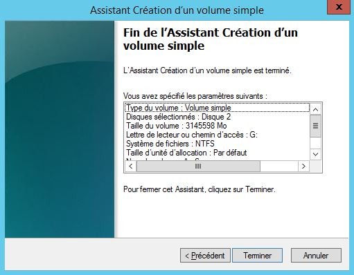 Windows Server 2012 : Monter un lecteur via une cible iSCSI