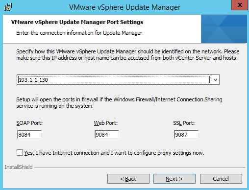 VMware : Installer Update Manager 5.5 sous Windows