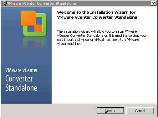 VMware : Installer VMware Converter Standalone