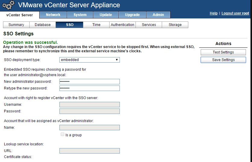 Tutorial VMware : Installer vCenter Server Appliance 5.5