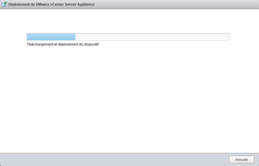 VMware : Installer vCenter Server Appliance vCSA 6